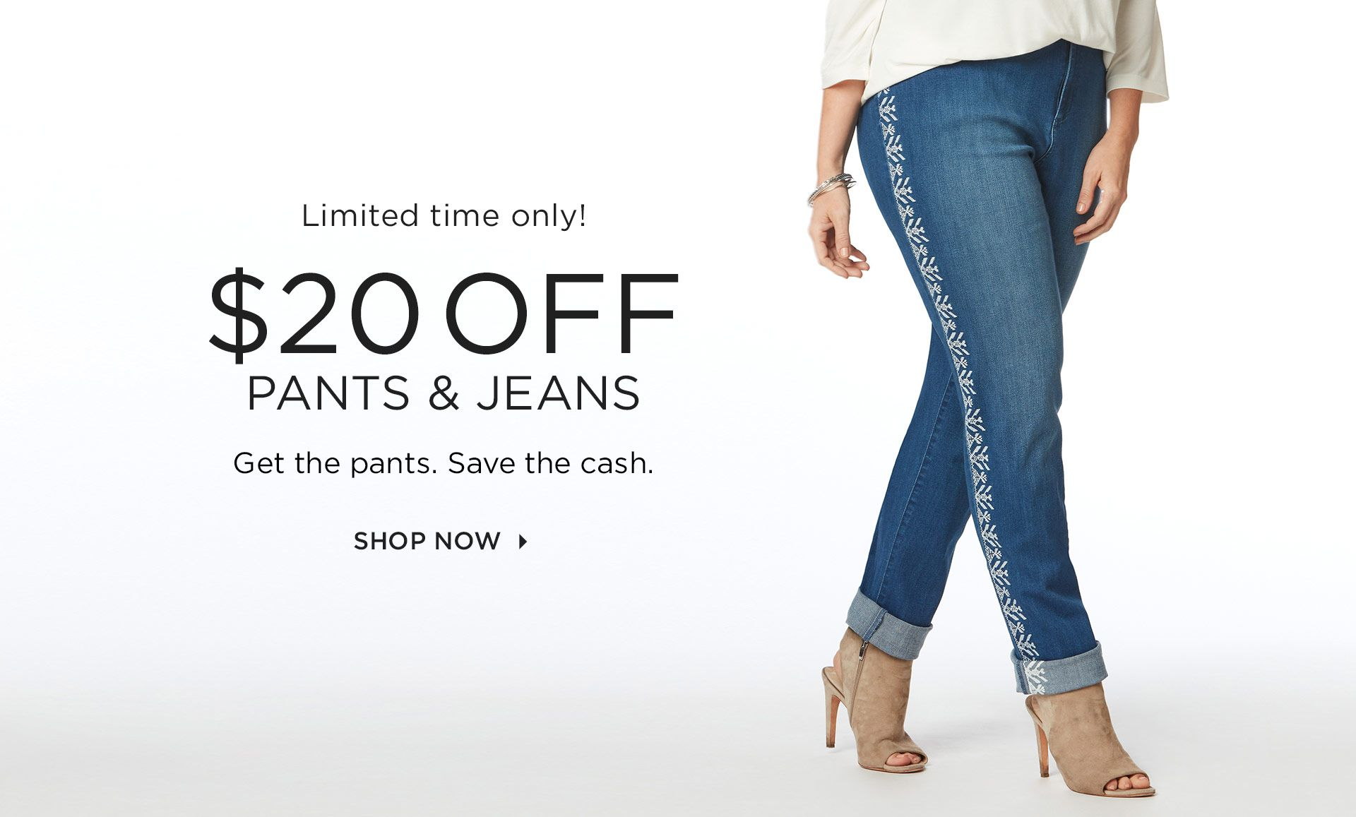 $20 Off Pants and Jeans at Catherines Plus Sizes