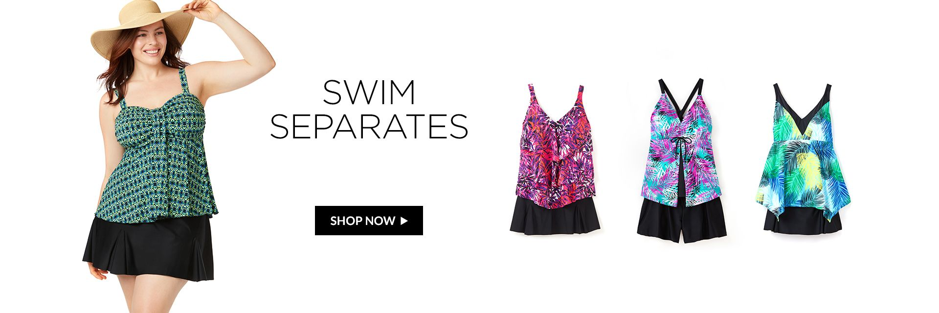 Shop Swim Separates at Catherines Plus Sizes
