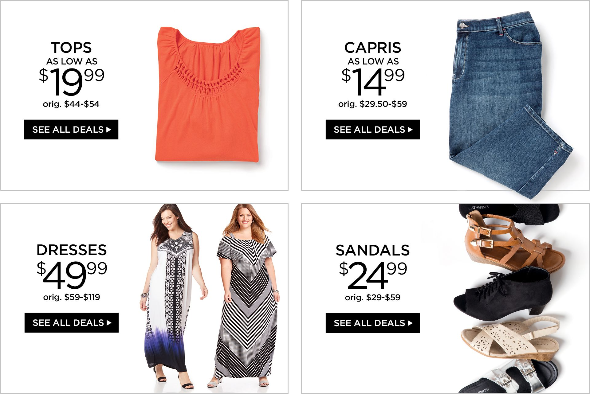 Shop Semi Annual Sale Summer Edition at Catherines Plus Sizes