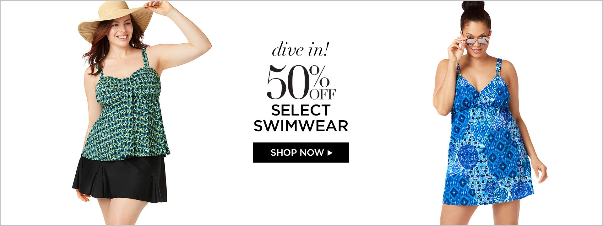 Shop 50% Off Swim at Catherines Plus Sizes