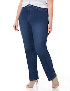 Women's Curvy Jeans - Plus Size Pull-On Jeans, Denim Leggings ...