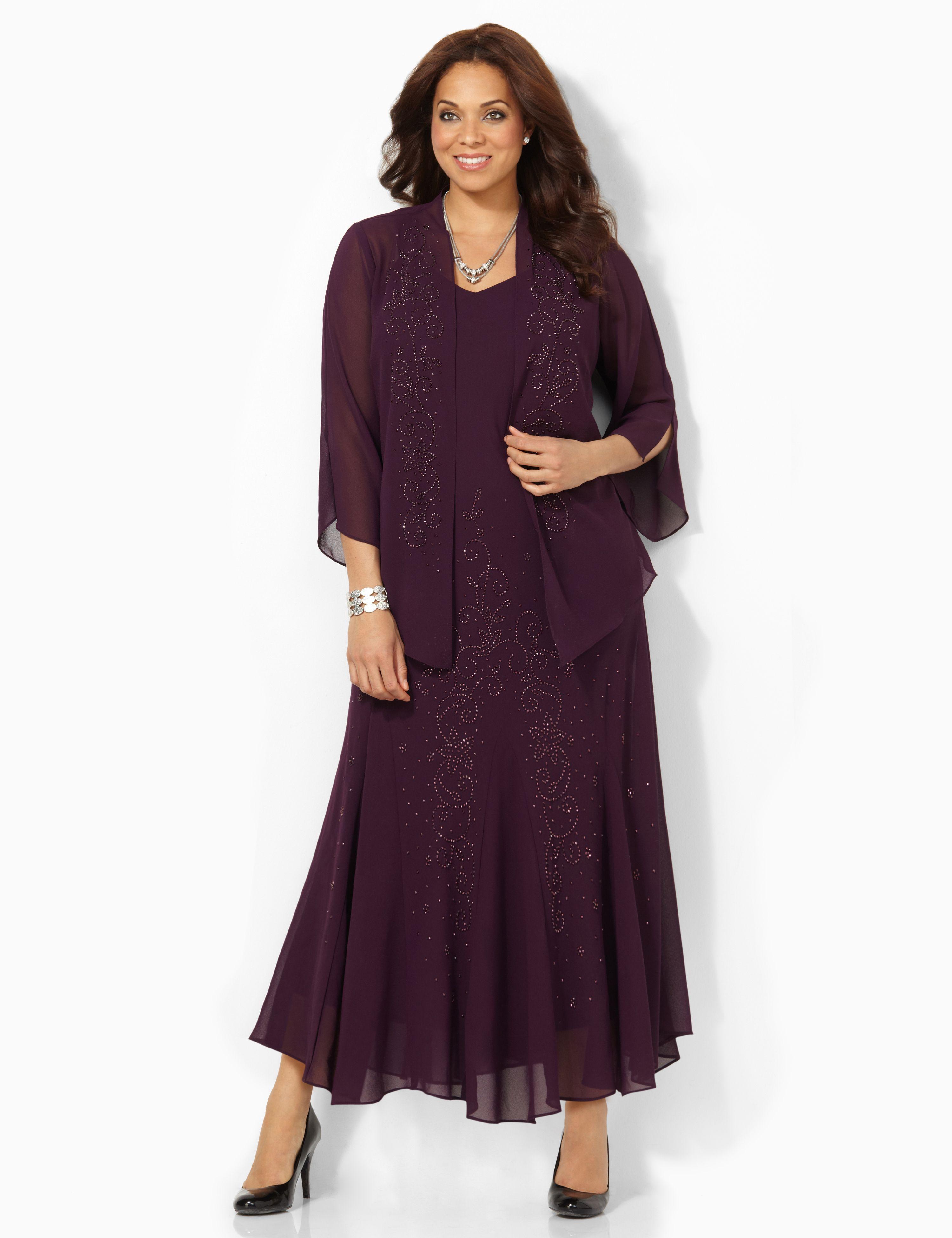 1930s Plus Size Dresses Polished Presence Jacket Dress $194.00 AT vintagedancer.com