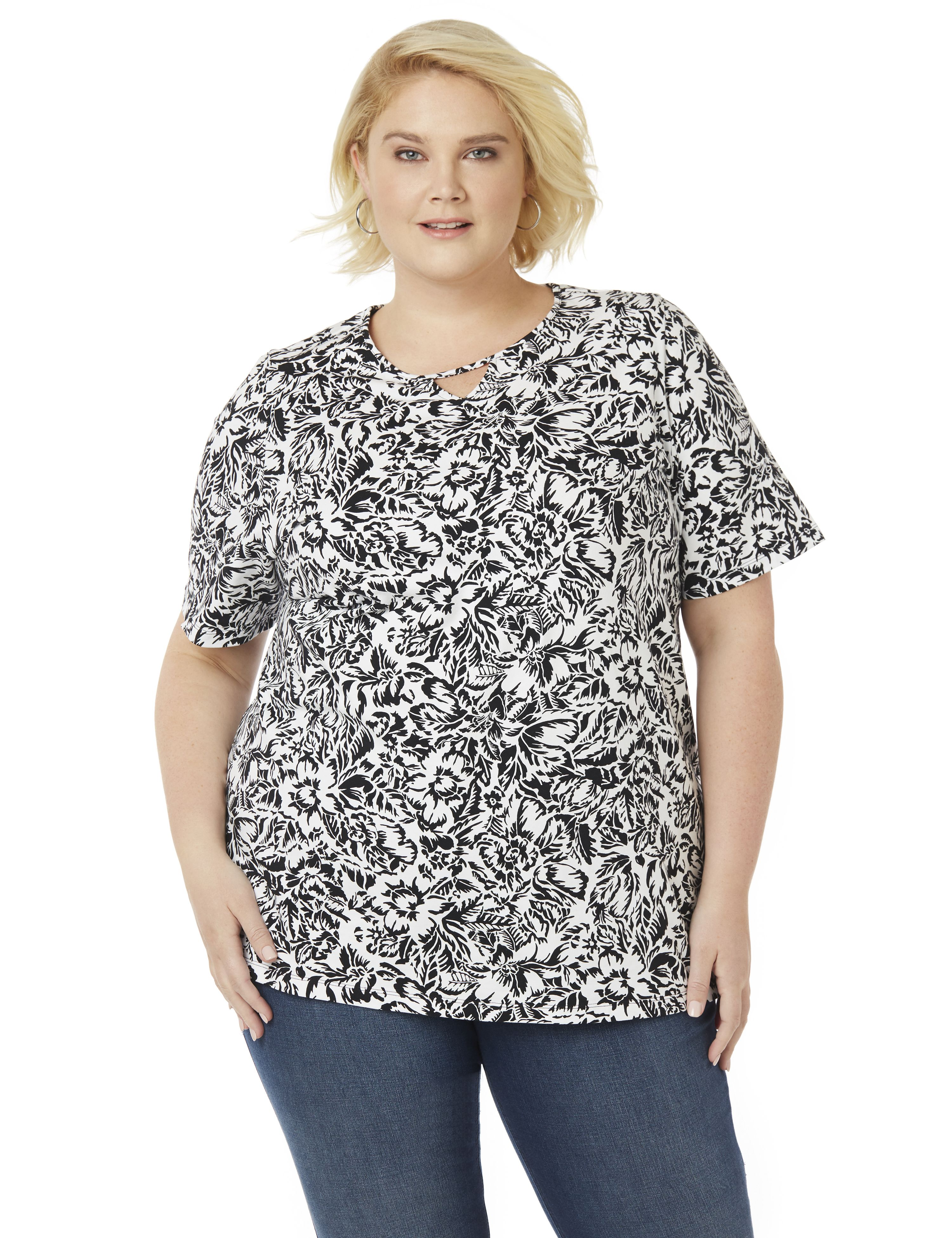Etched Floral Top 300062271