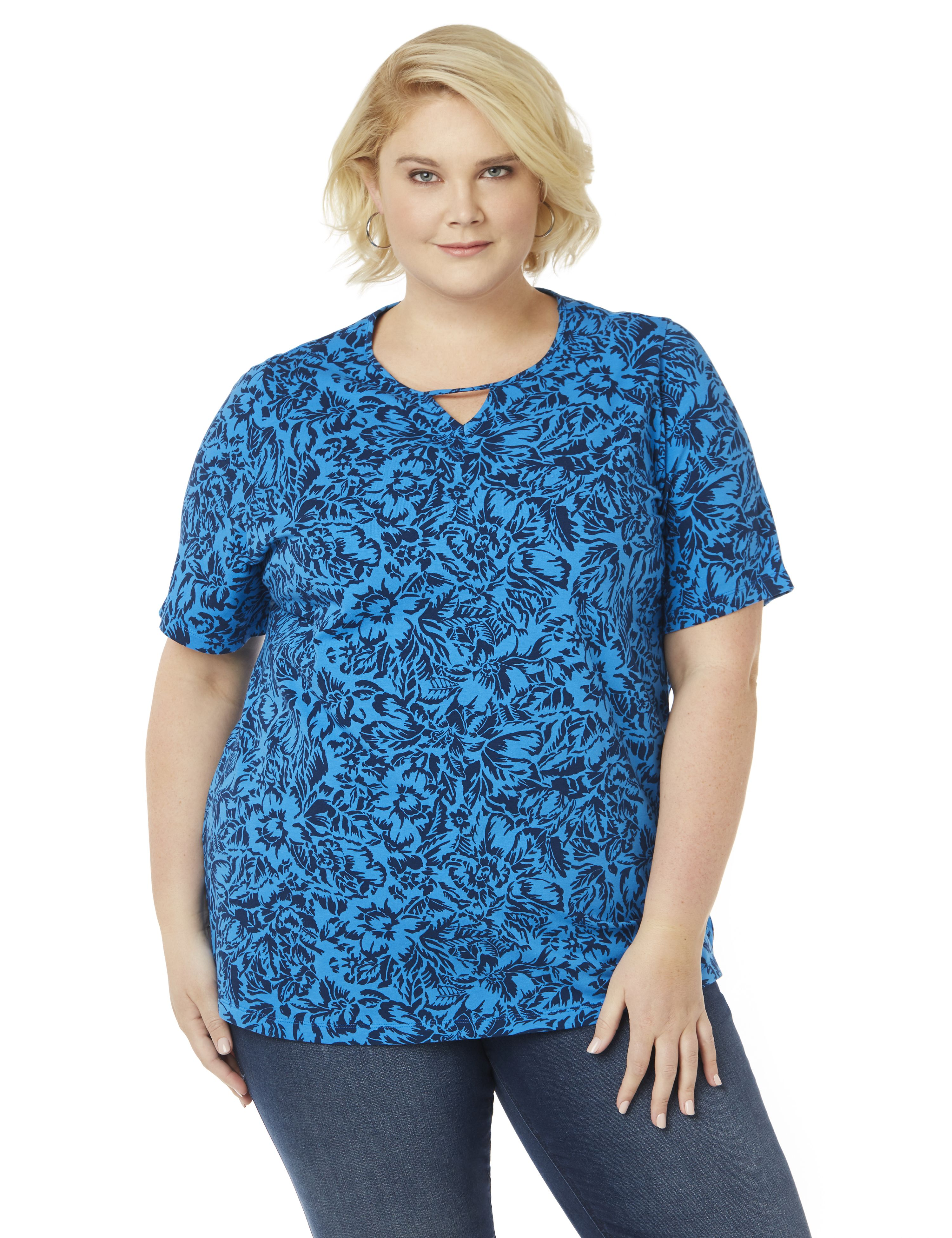 Etched Floral Top 300062266