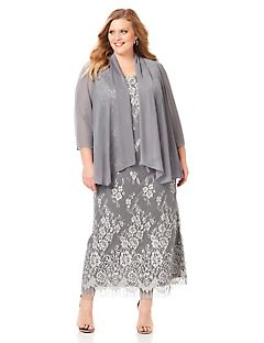 Plus Size Evening Dresses With Jackets - Qi Dress