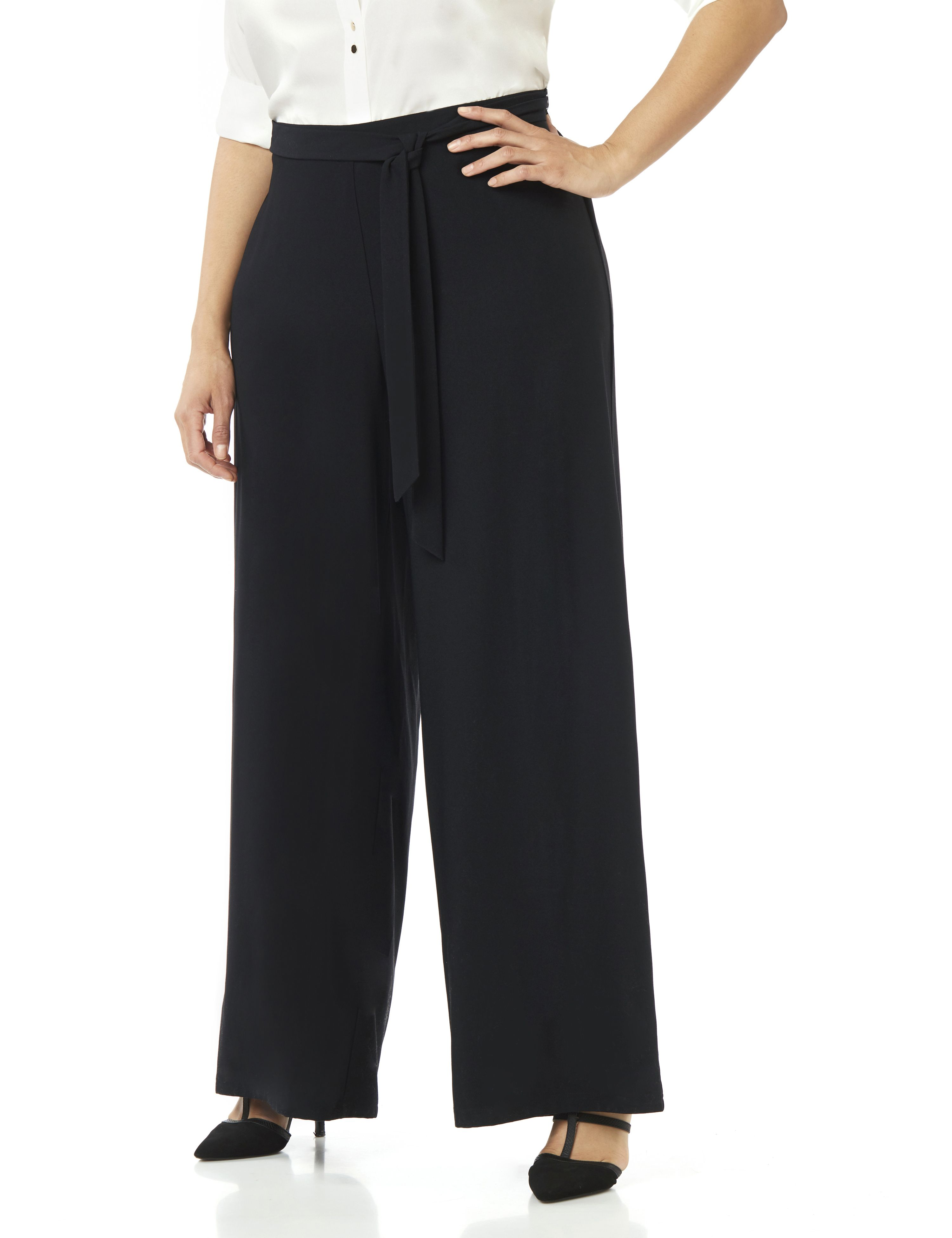 1930s Women's Pants and Beach Pajamas Napa Palazzo Pant $64.00 AT vintagedancer.com