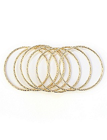 7-Piece Glitter Bangle Set