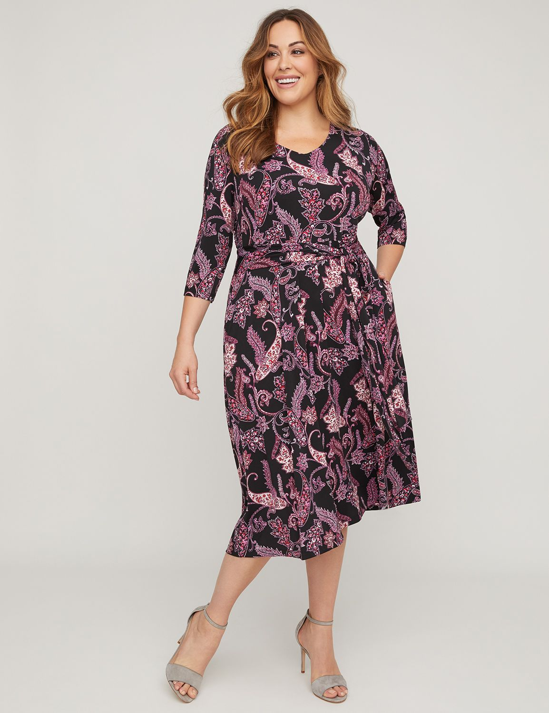 a1d25fbdd0 Paisley Midi Dress with Pockets