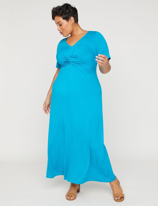 8f84bb806e Bayside Twist-Knot Maxi Dress | Catherines