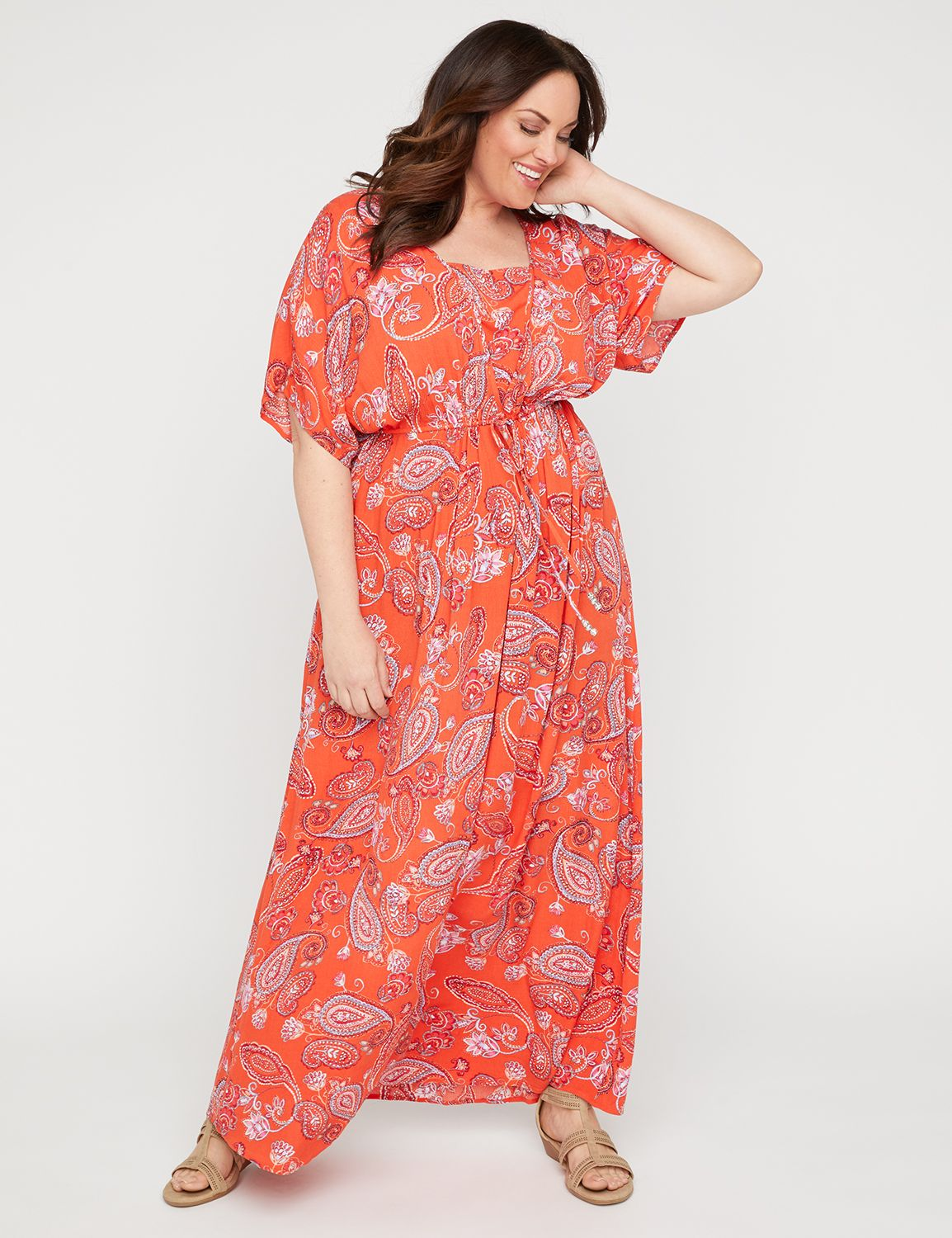 814995b65ed4 Horizon Paisley Maxi Dress | Catherines