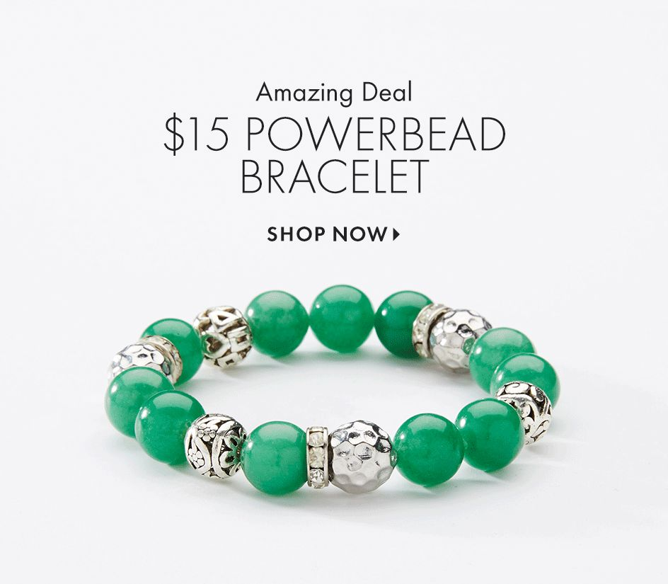 Shop Powerbead Bracelets at Catherines Plus Sizes