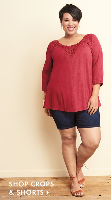 Shop Capris and Shorts at Catherines Plus Sizes