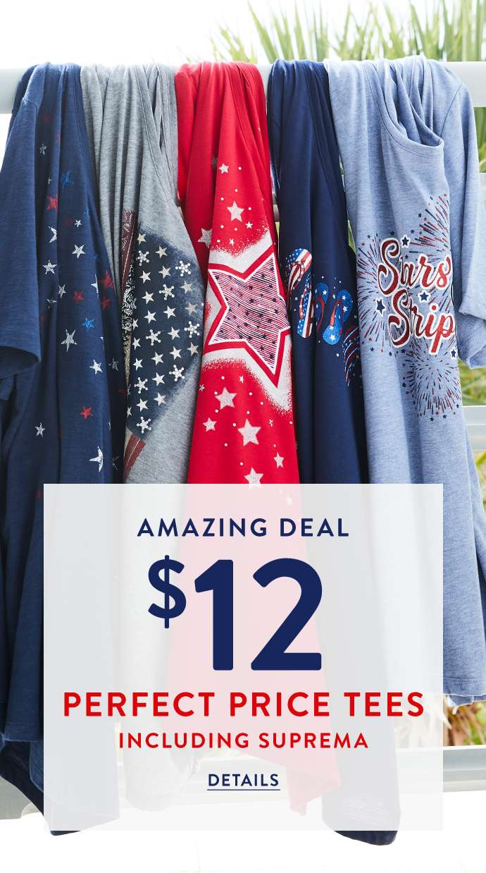 Amazing deal! $12 perfect price tees including suprema.