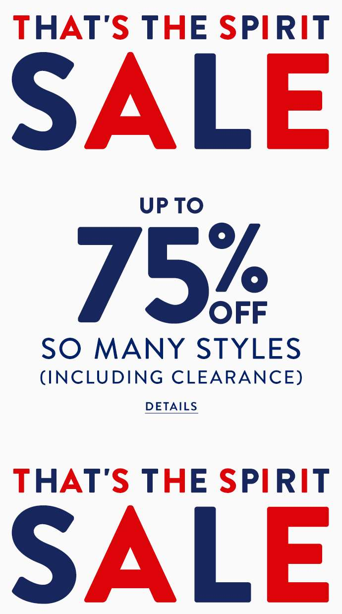 Up to 75% off so many styles inlcuding clearance