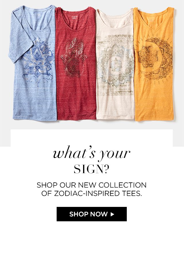 Shop Zodiac-Inspired Tees at Catherines Plus Sizes