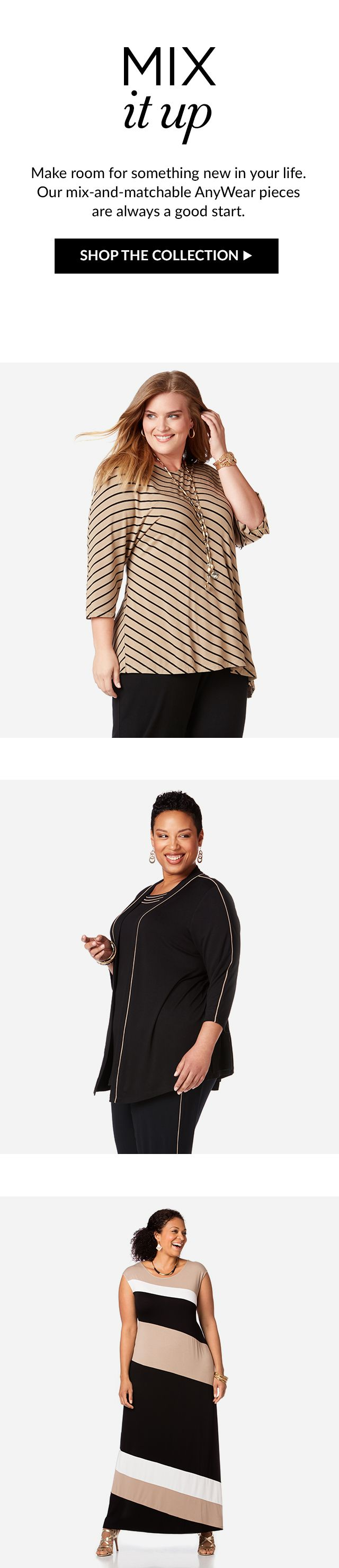 Shop Anywear Collection at Catherines Plus Sizes
