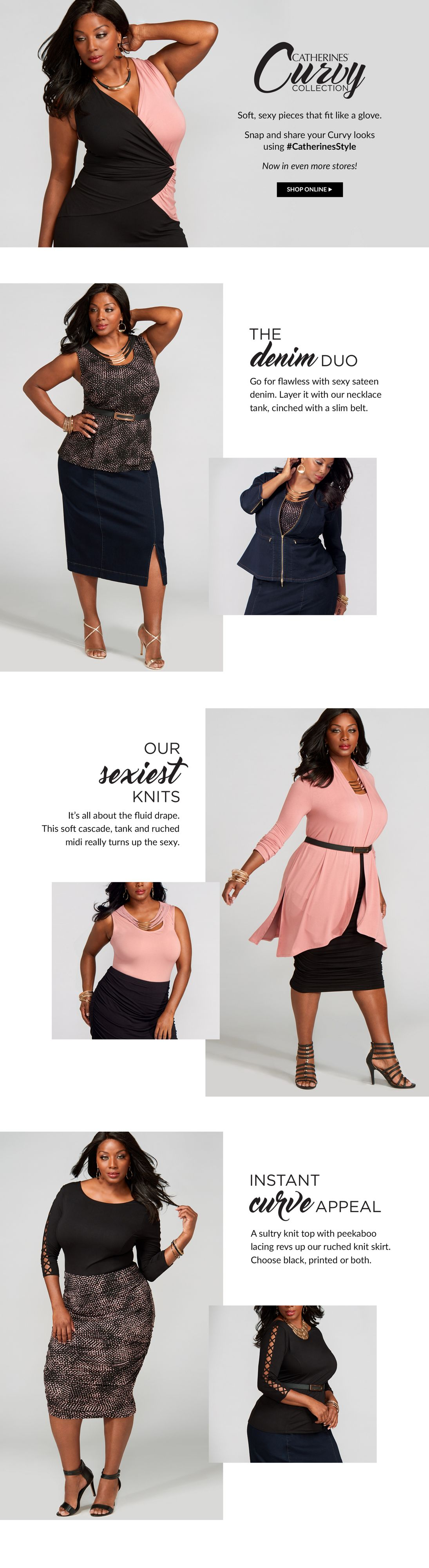 Shop Curvy Collection at Catherines Plus Sizes