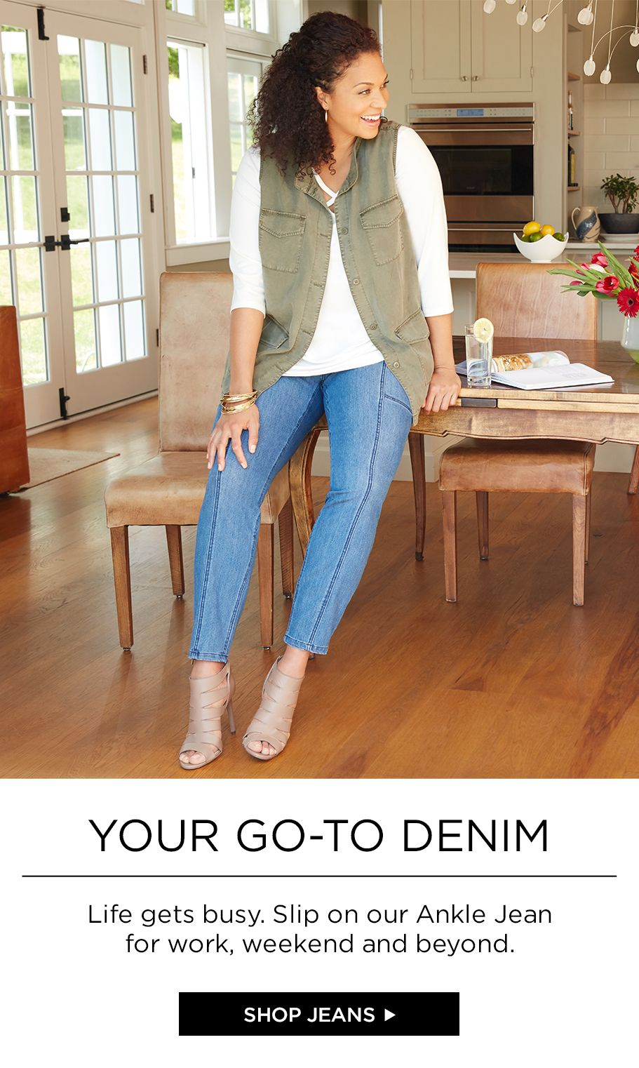 Shop Denim at Catherines Plus Sizes