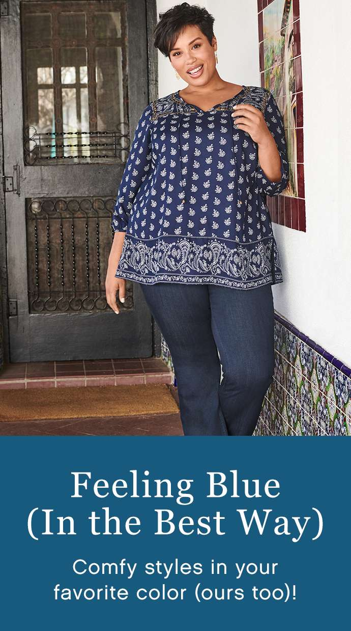 Feeling Blue (In the Best Way): Comfy styles in your favorite color (ours too)!