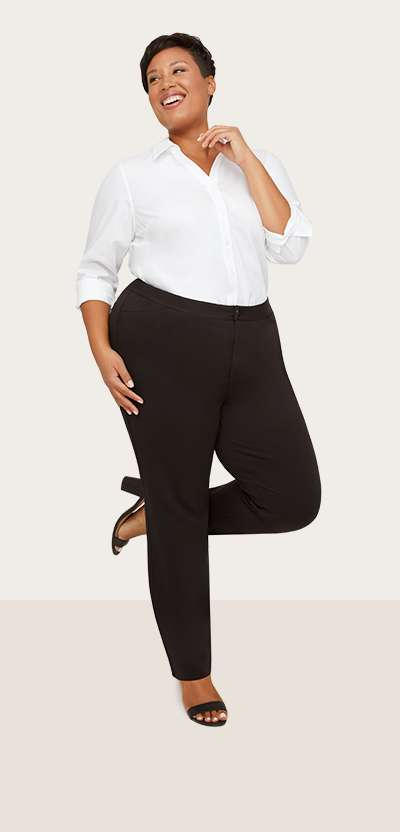 Plus Size Black Pants | Catherines