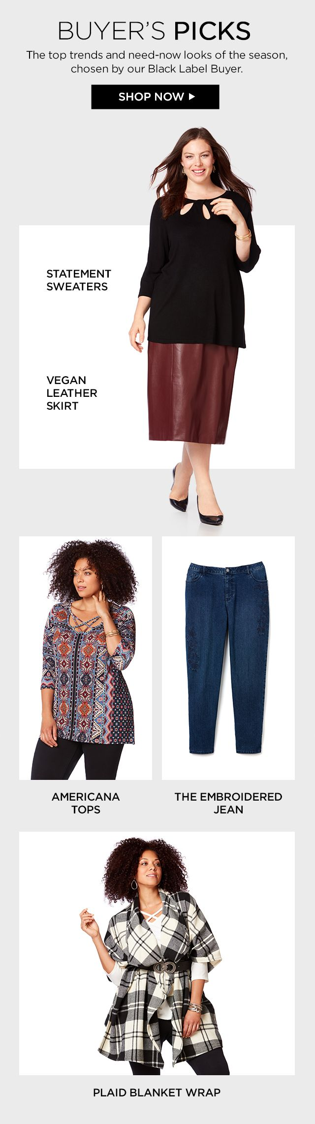 Shop Buyer's Picks at Catherines Plus Sizes