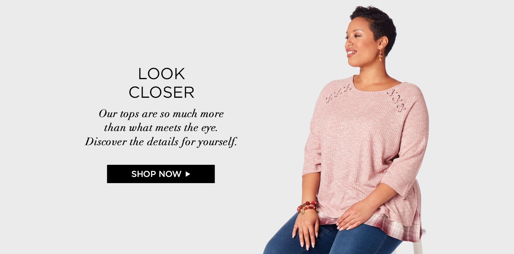 Shop Tops at Catherines Plus Sizes
