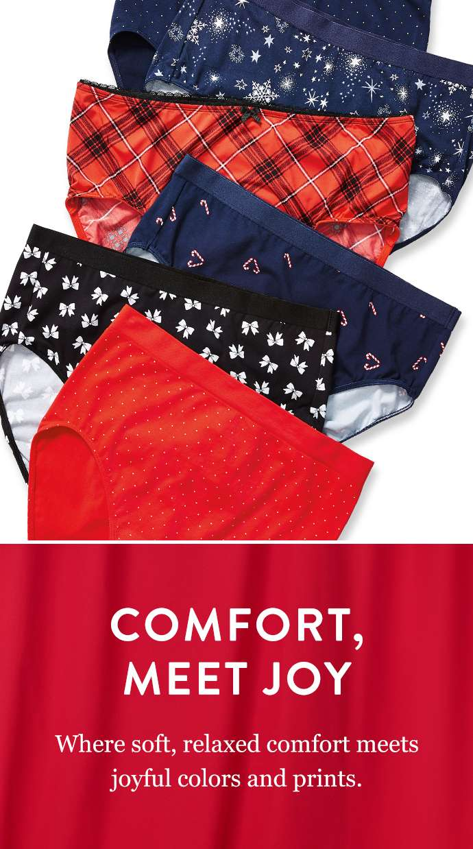 Comfort, Meet Joy: Where soft, relaxed comfort meets joyful colors and prints.
