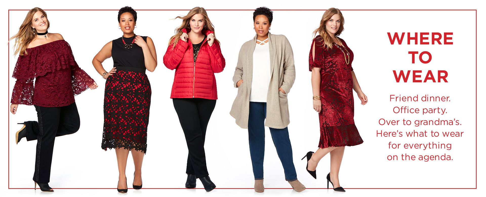 Plus Size Womens Holiday Party Outfits Clothes Catherines