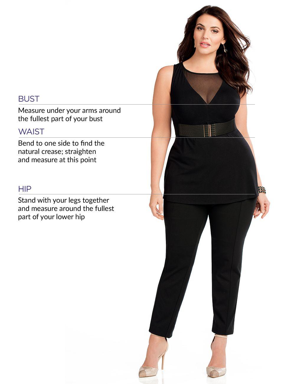 Plus Sizing Chart 0x-5x | Bras, Panties, Dresses | Catherines