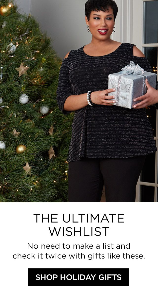Shop Holiday Wish List at Catherines Plus Sizes