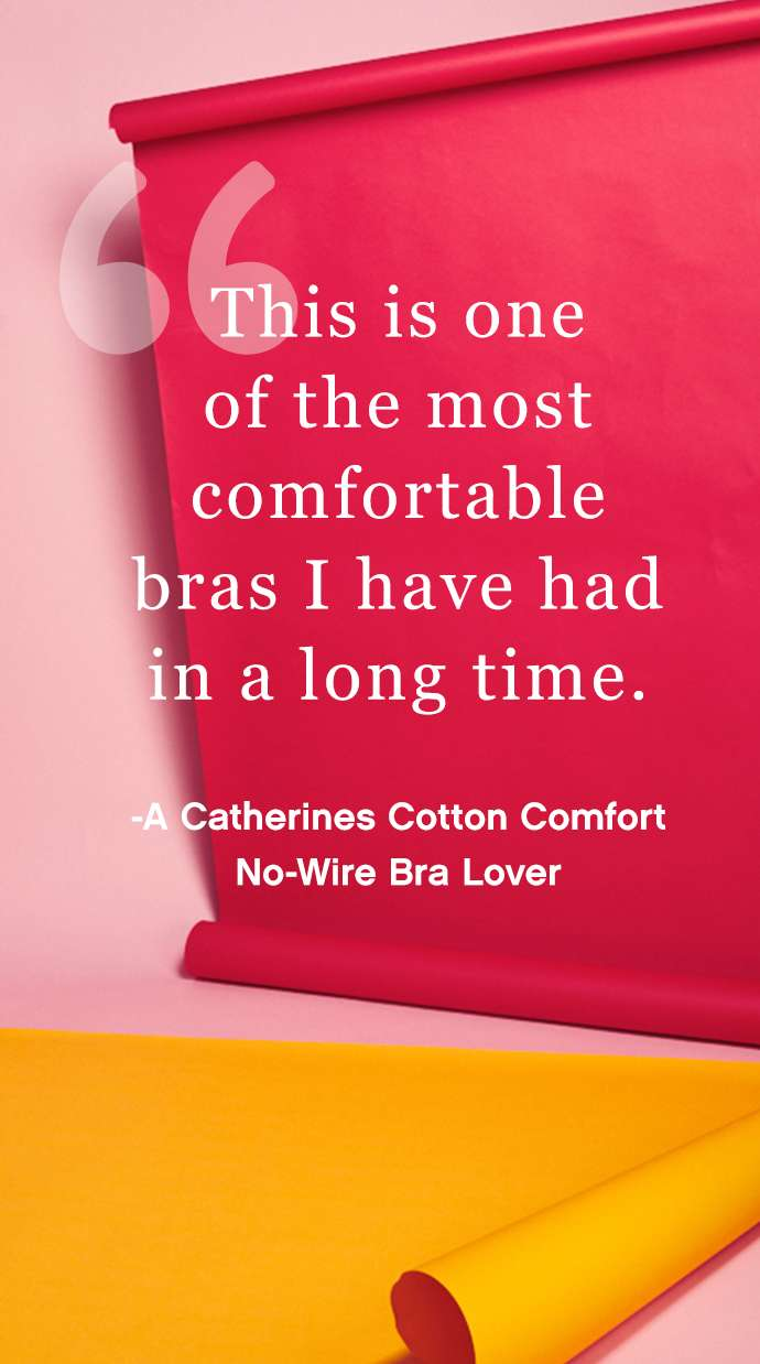 'This is one of the most comfortable bras I have had in a long time' - A Catherines Cotton Comfort No-Wire Bra Lover