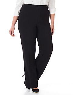 Women's Plus Size Pants - Dress Pants, Black Pants, Wide-Leg Pants ...