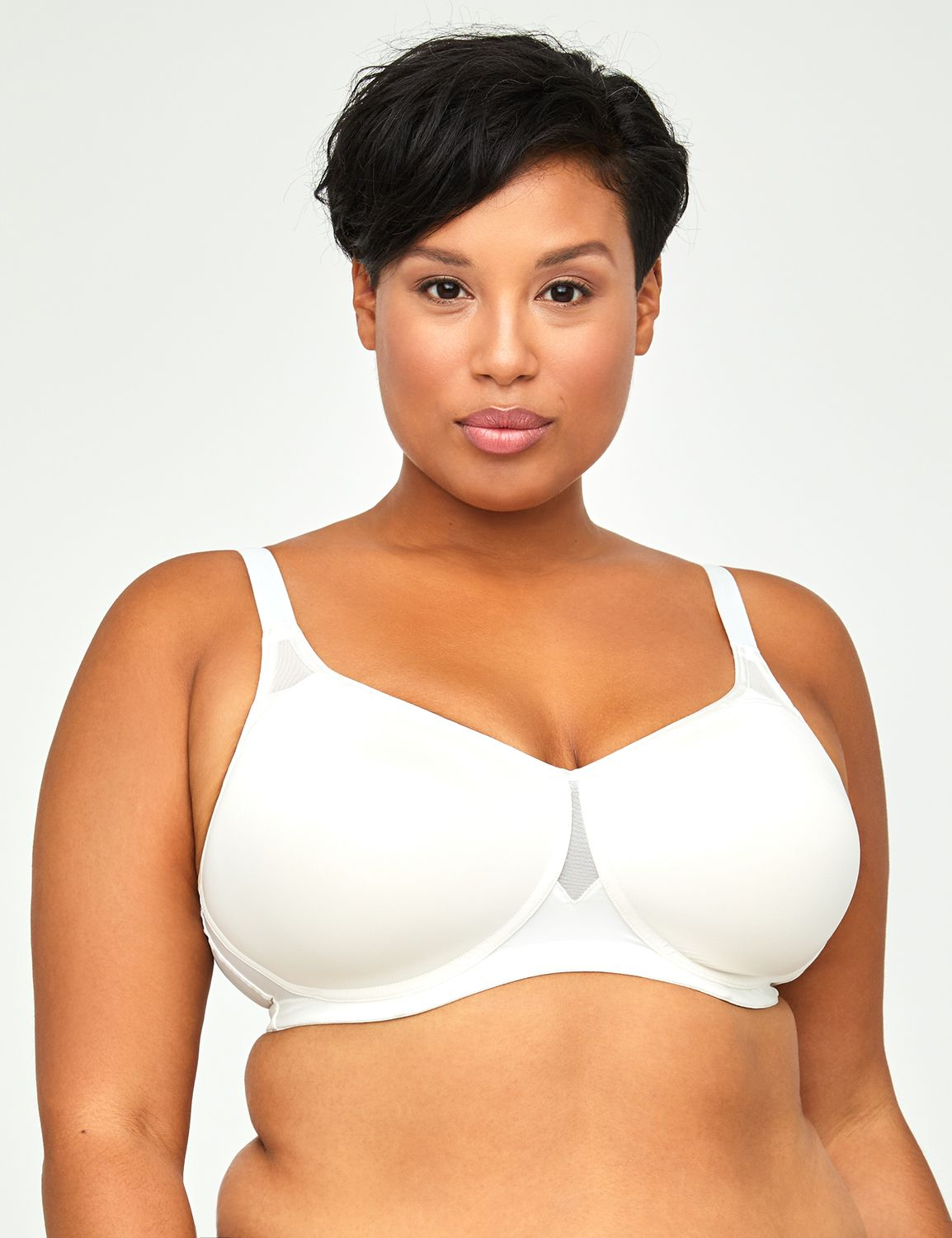 Solid No-Wire Comfortably Cool Bra No-Wire Comfortably Cool Bra MP-201390190
