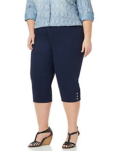Women's Plus Size Capris, Shorts & Crop Pants | Catherines