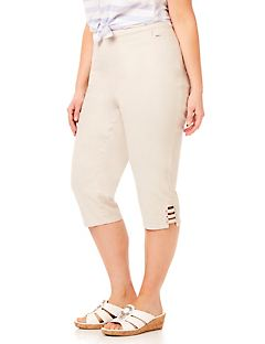 Touch of Sparkle Twill Capri