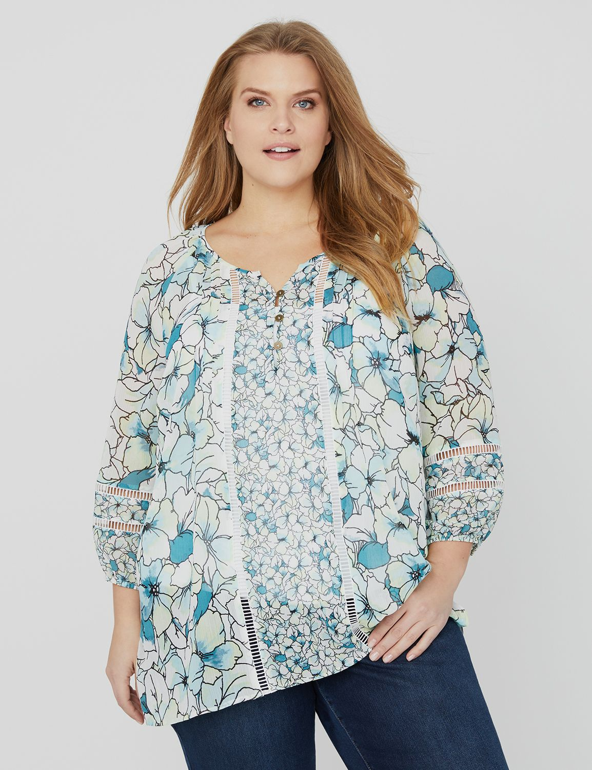 Floral Courtyard Blouse Floral Courtyard Blouse MP-300103620