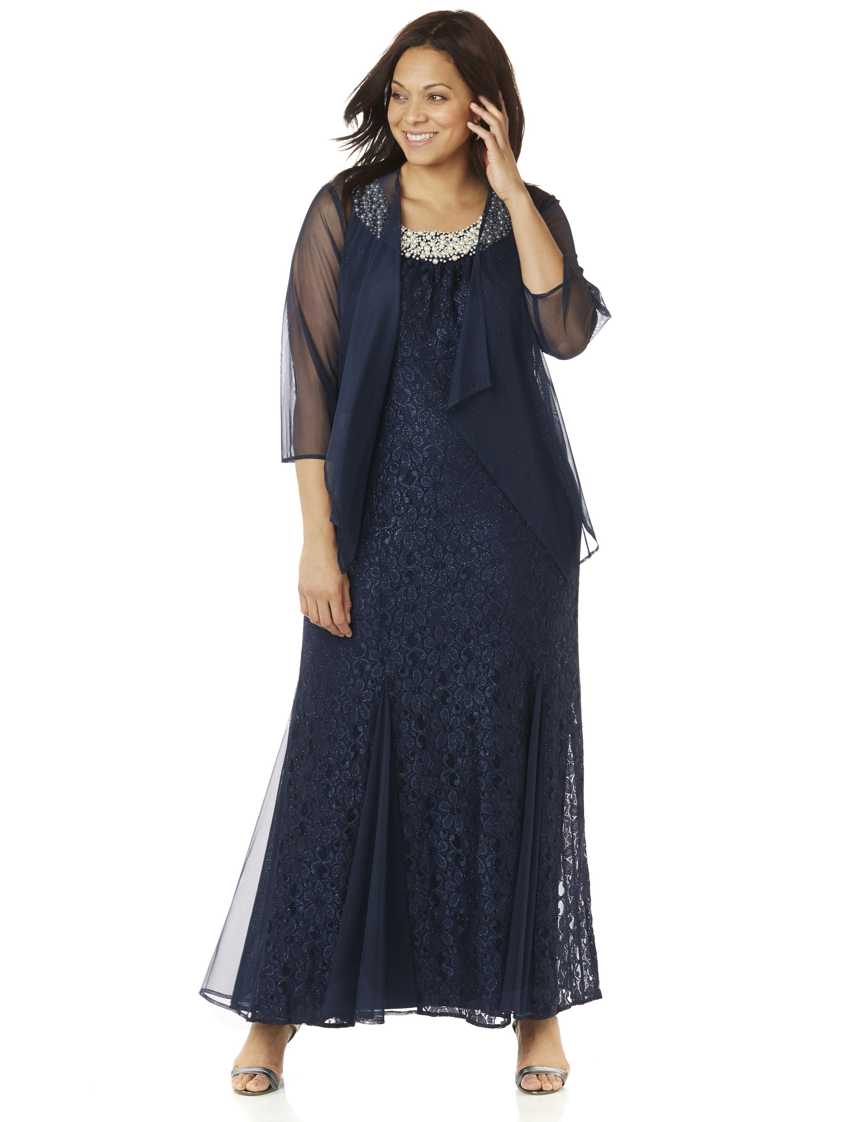 Plus Size Retro Dresses Saturday Night Gown $159.99 AT vintagedancer.com