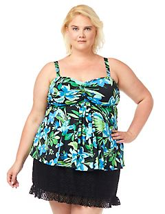 Tropical Escape Swim Top