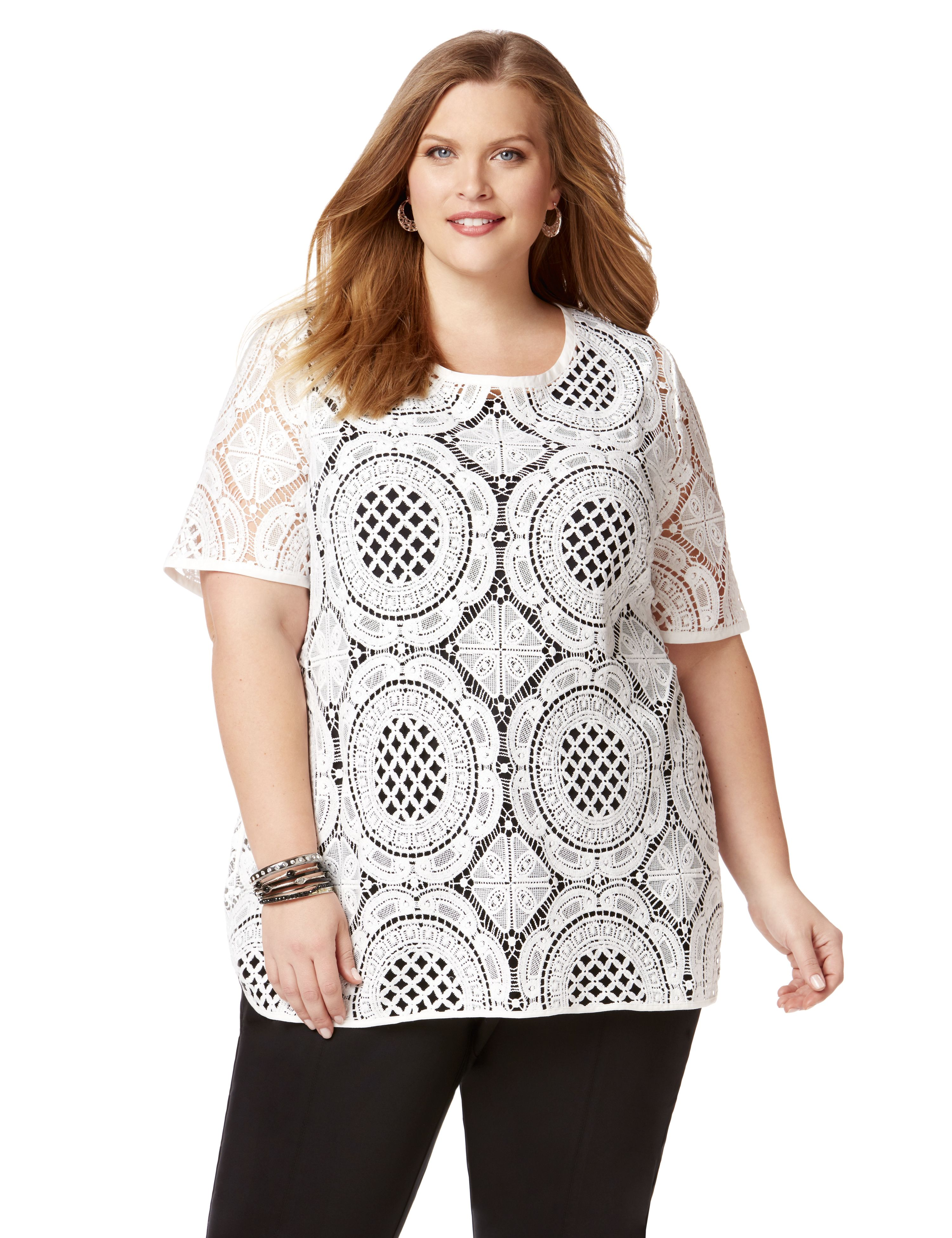 Las Palmas Crochet Top 300068685