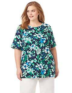 Tropical Blooms Easy Fit Tee
