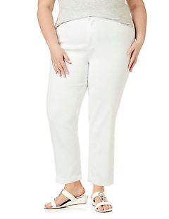 Sateen Stretch Ankle Pant