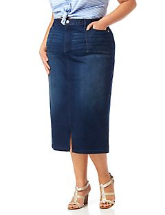 Blue Note Denim Skirt
