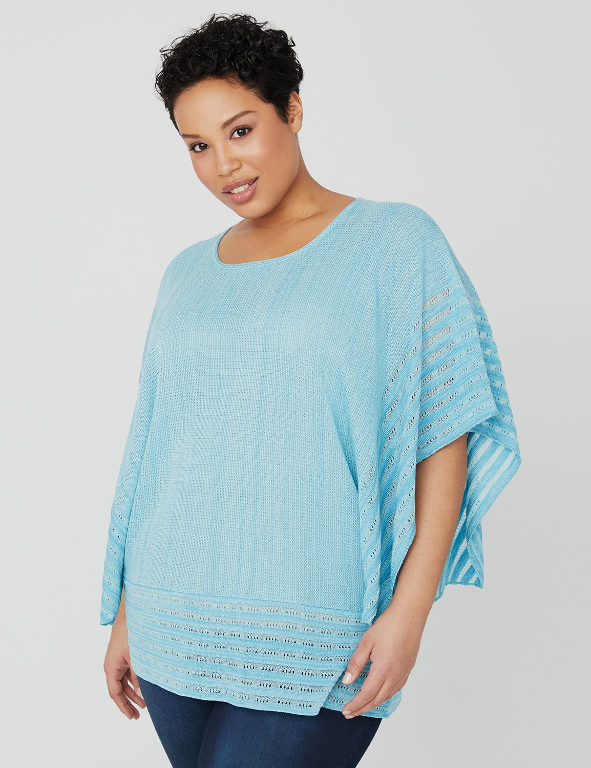 Rippled Edge Sweater 1083897 KimonoPullover 212 MP-300107439