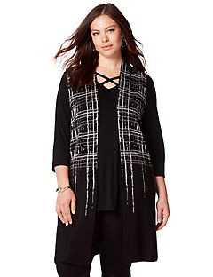 Crisscross Sleeveless Duster