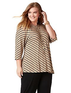 AnyWear Dolman Stripe Top