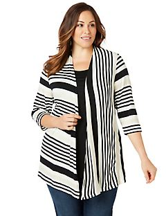 Stripe Statement Cardigan