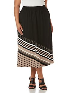 Women's Plus Size Long Skirts - Denim & Comfortable Flowy Skirts ...