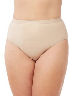 Cotton Shimmer Hi-Cut Brief