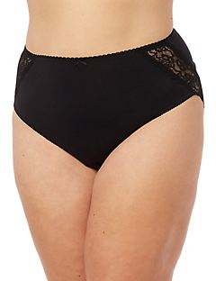 Lace Inset Microfiber Brief