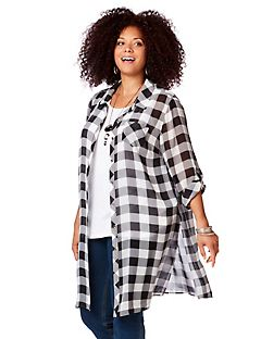 Lakeview Plaid Buttonfront